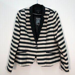 NWT Worthington Black & White Striped Blazer